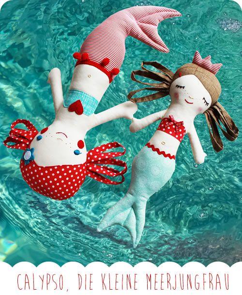 Probenähen: Die Meerjungfrau Calypso | Meerjungfrau-puppen ...