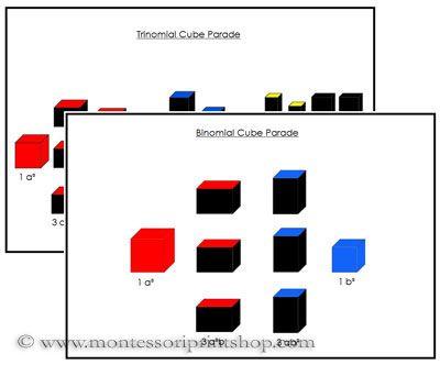 Binomial Trinomial Control Cards Montessori Materials Montessori Sensorial Montessori