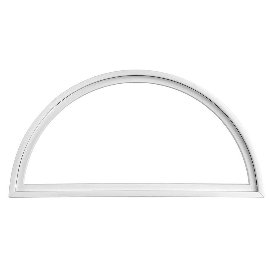 Pella Impervia Half Circle Replacement White Window (Rough ...