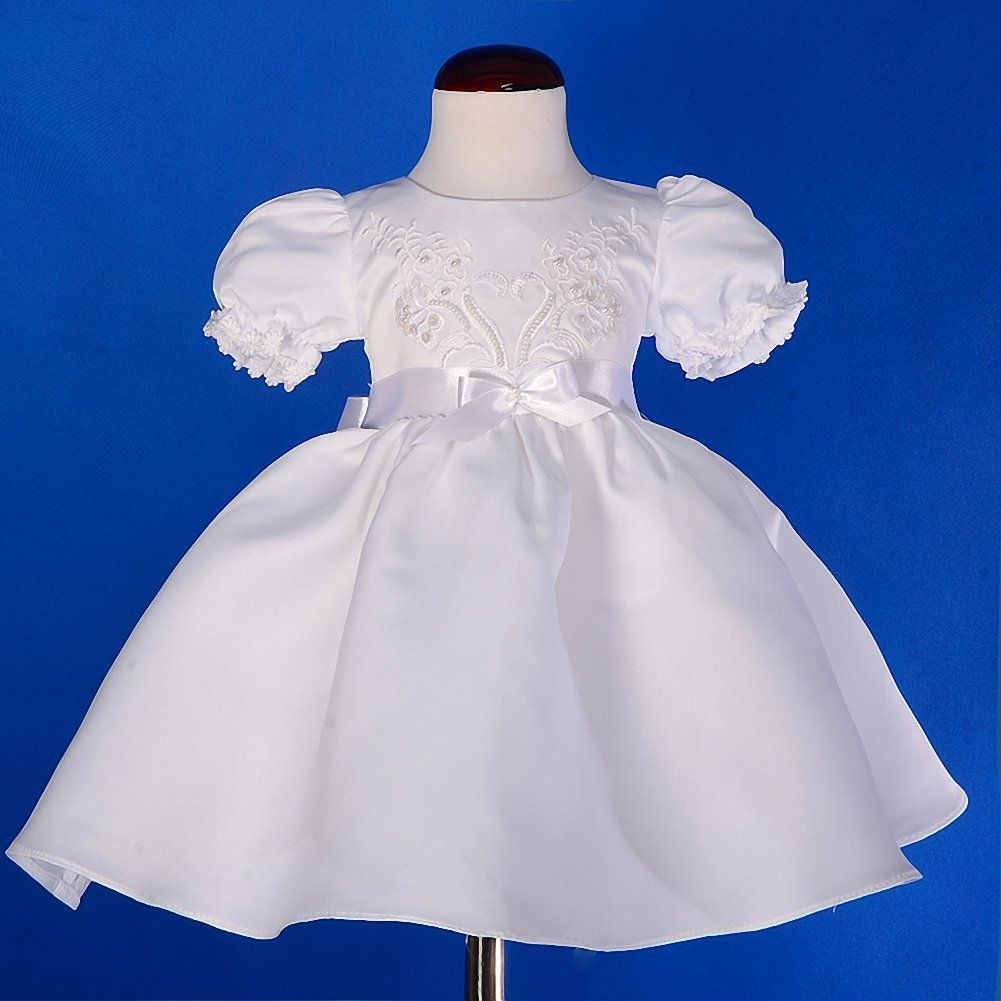 ffa7c2822aa5 Dressy Daisy Baby Girls Pearls Embroidered Baptism Christening Gown ...