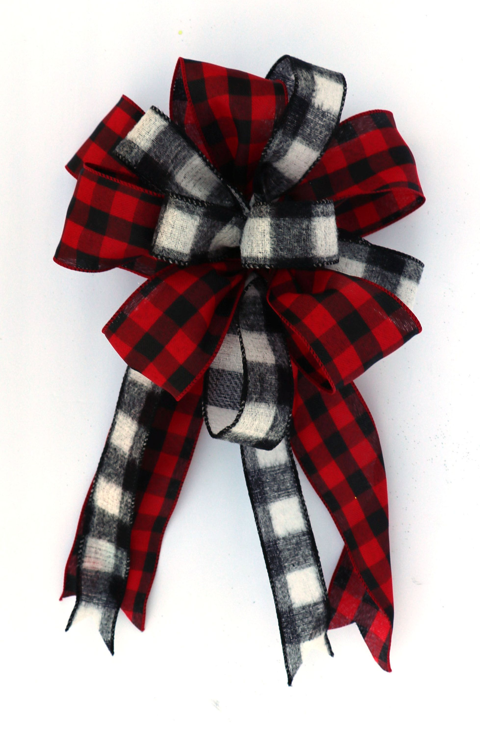Christmas farmhouse black and white check and red and
