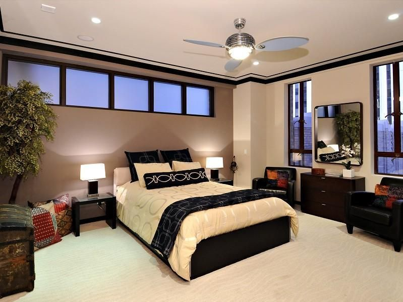 Interior Paint Ideas Bedroom   Inspiring Penthouse Bedroom Interior And  Design Black Trim
