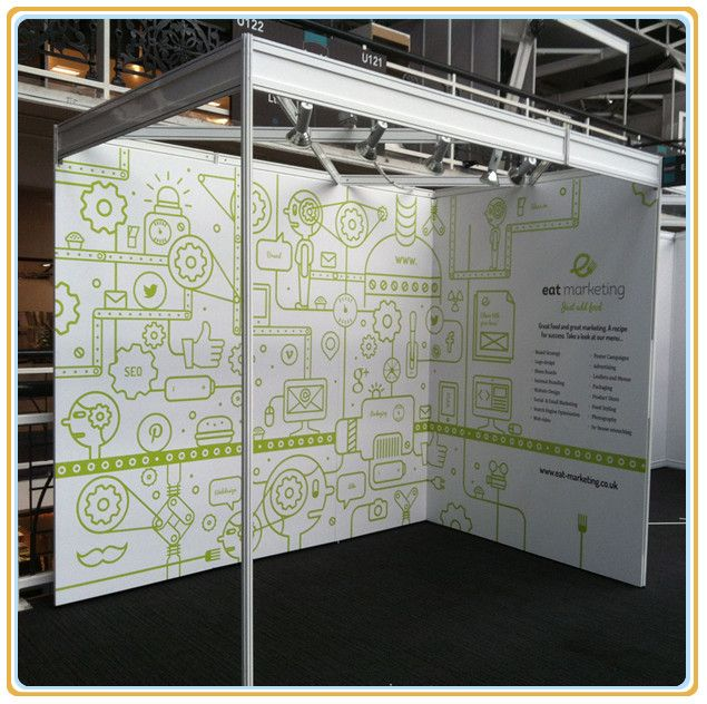 Shell Clad Exhibition Stand : Shell scheme trade show portable modular exhibition stand