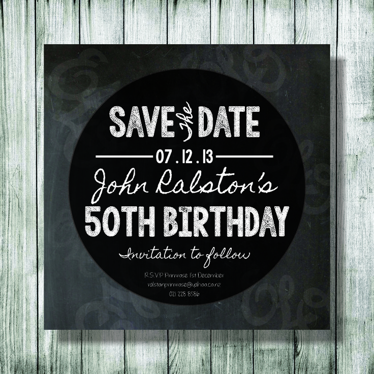 Save the date Birthday Imvitation Designed by Shayden Whipps