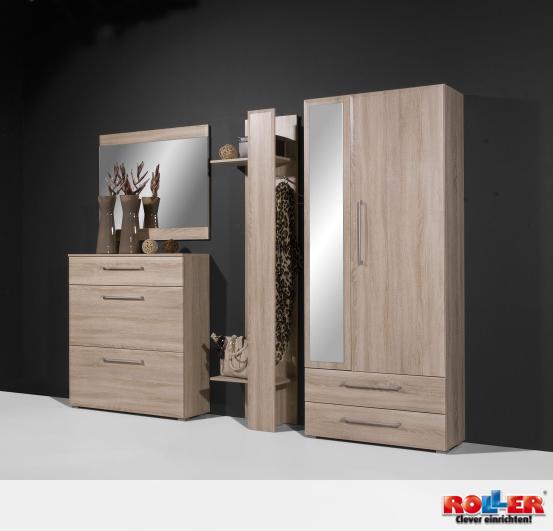 Schicke Garderobe in Trendstyle Sonoma-Eiche Zum Online-Shop: http ...