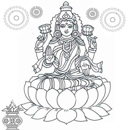 Hindu Gods And Goddesses Coloring Pages Diwali Colours Coloring