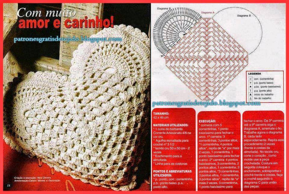 Crochet y Dos agujas: Romanticismo en almohadones al crochet ...