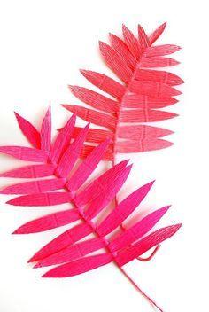 feuilles de kantia crépon rose - via pinterest
