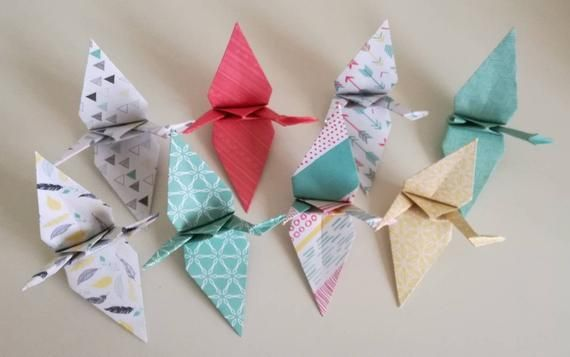 Photo of Set of 8 handmade origami cranes (Colourful Inspirations)