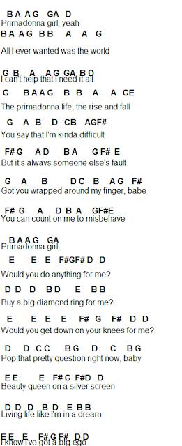 Flute Sheet Music Primadonna Primadonna Pretty Songs Flute Sheet Music