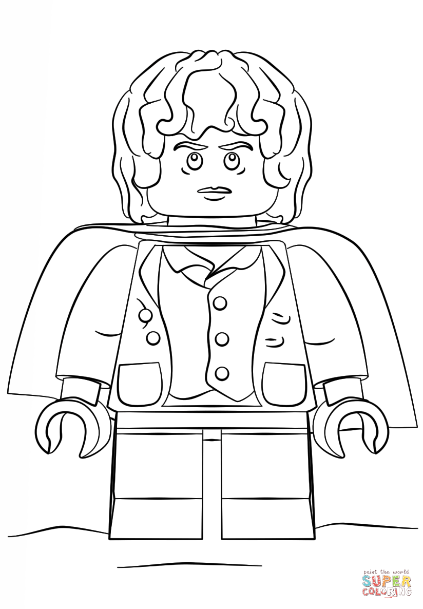 Lego Frodo coloring page from Misc. Lego Minifigures category ...
