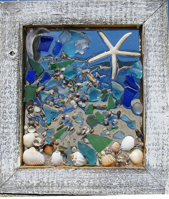 Mermaid Sea Glass Window by beachcreation on Etsy