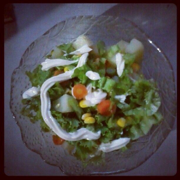 """@faraziyya's photo: """"Salad lagi salad lagi #dinner"""""""