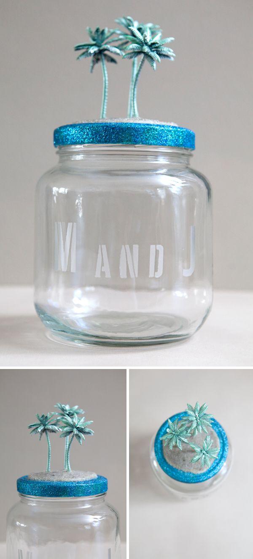 Diy Honeymoon Fund Savings Jar Something Turquoise Diy Honeymoon Money Jars Diy Savings Jar