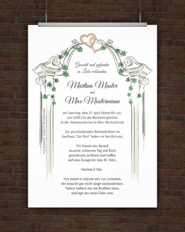 Kostenlose Hochzeitseinladung Zum Ausdrucken Free Printables