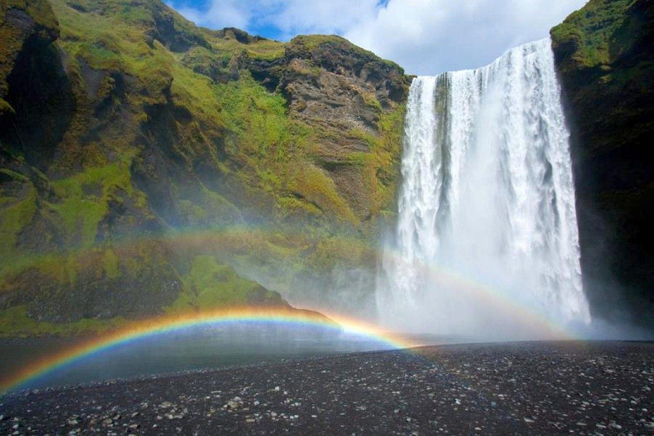 Waterfall A Poem Rainbow Waterfall Waterfall Nature Desktop Wallpaper