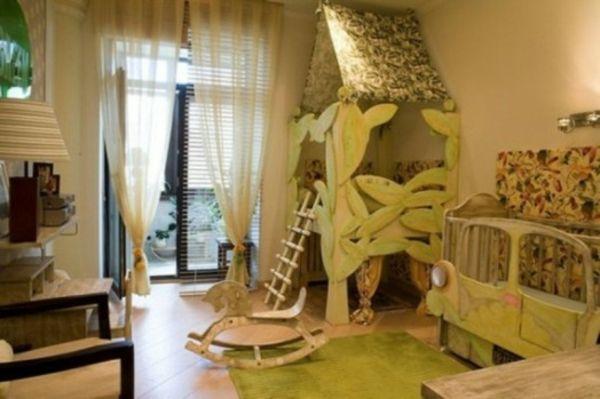 Kinderbett dschungel  dschungel dekoration im kinderzimmer holzausstattung ...