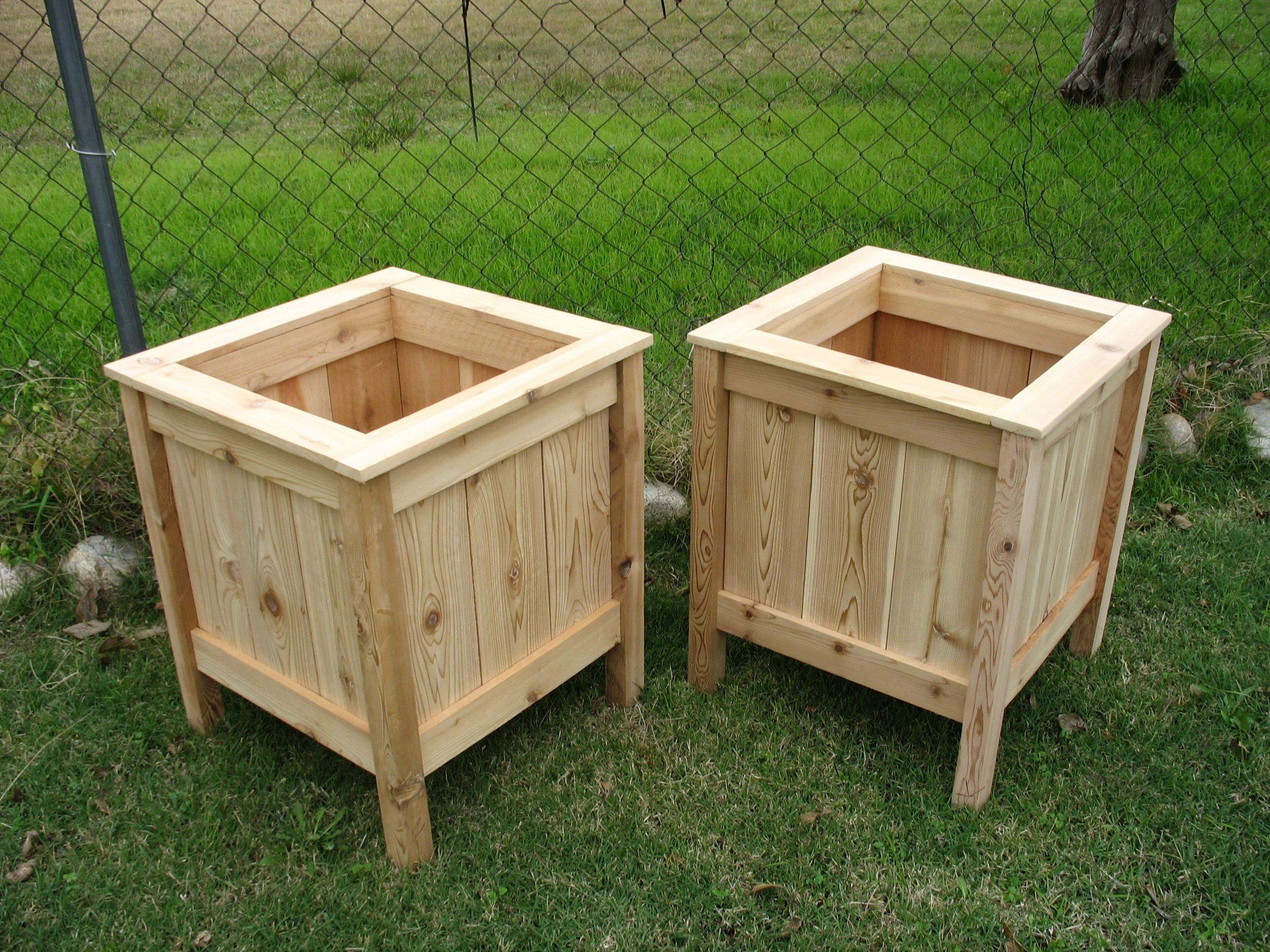 wood planter cedar at rectangle planters country box set patio of boise boxes pin