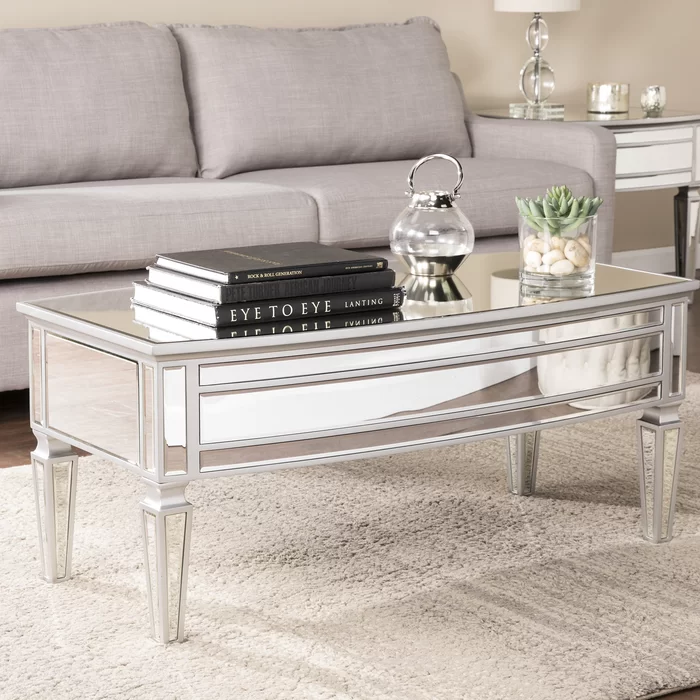 Elosie Mirrored Coffee Table In 2020 Mirrored Coffee Tables