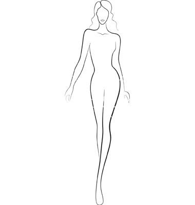 Gallery For Fashion Templates Fashion Model Sketch Fashion Design Template Fashion Silhouette