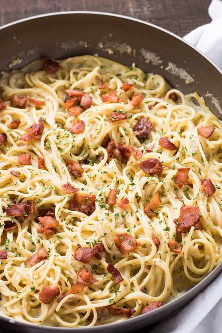 Easy One Pan Bacon Ranch Garlic Parmesan Pasta Dinner Recipes images