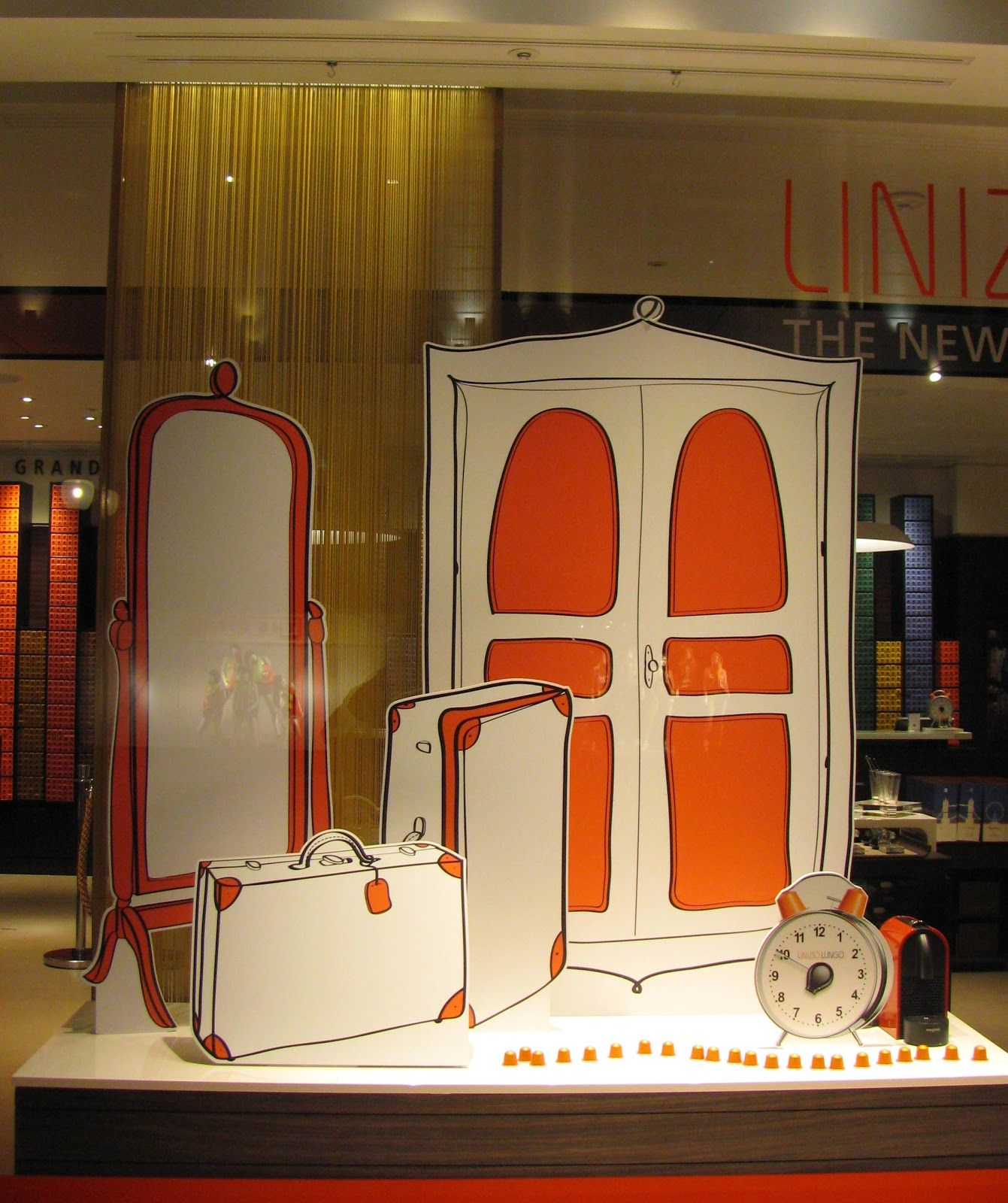 I like the idea of hand drawn cut outs spa window for Retail store window display ideas