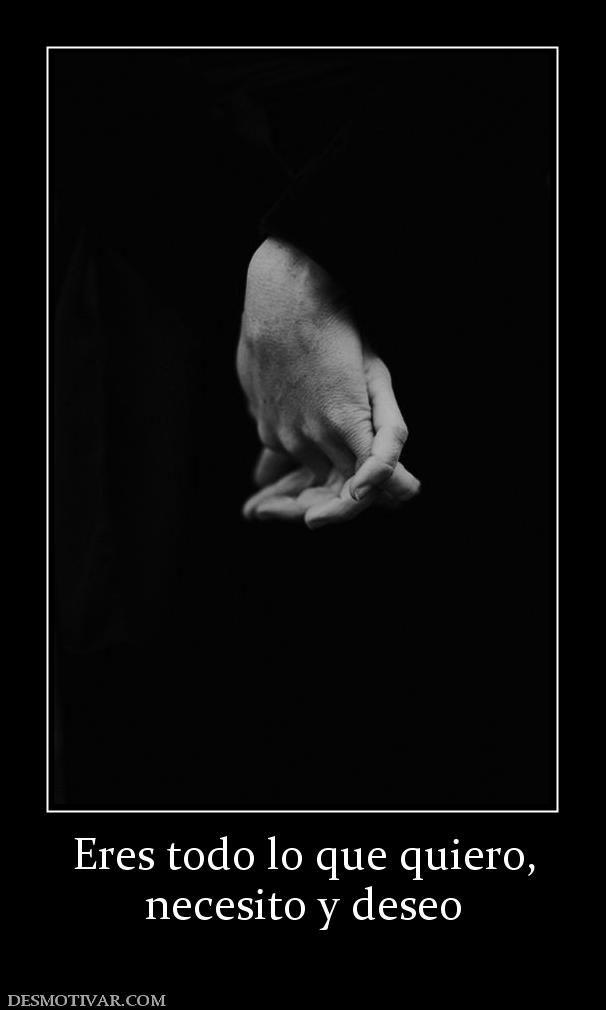 Eres todo lo que quiero, necesito y deseo