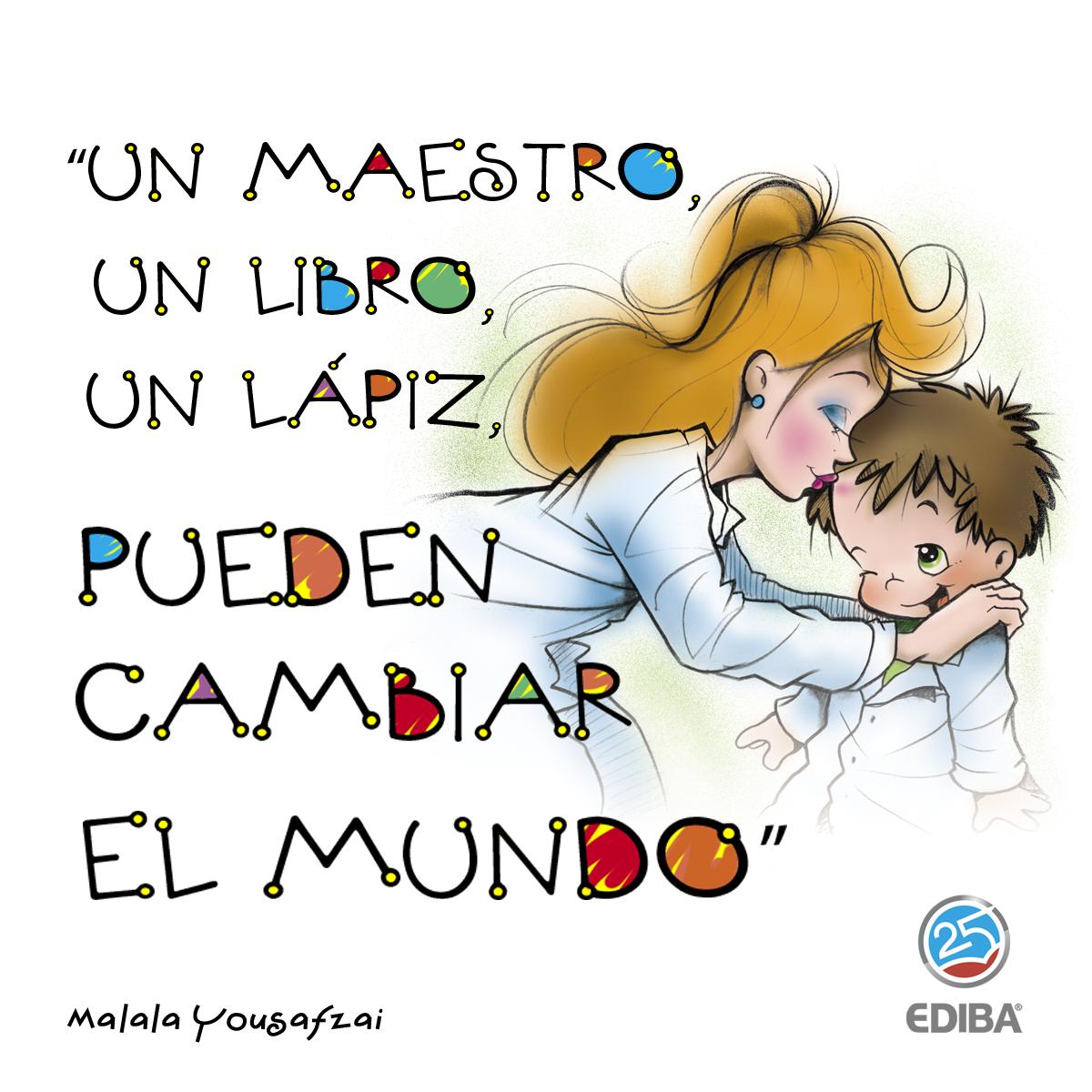 Un Maestro Un Libro Un Lapiz Pueden Cambiar El Mundo Frases Para Maestros Frases Dia Del Maestro Felicitaciones Para Maestros