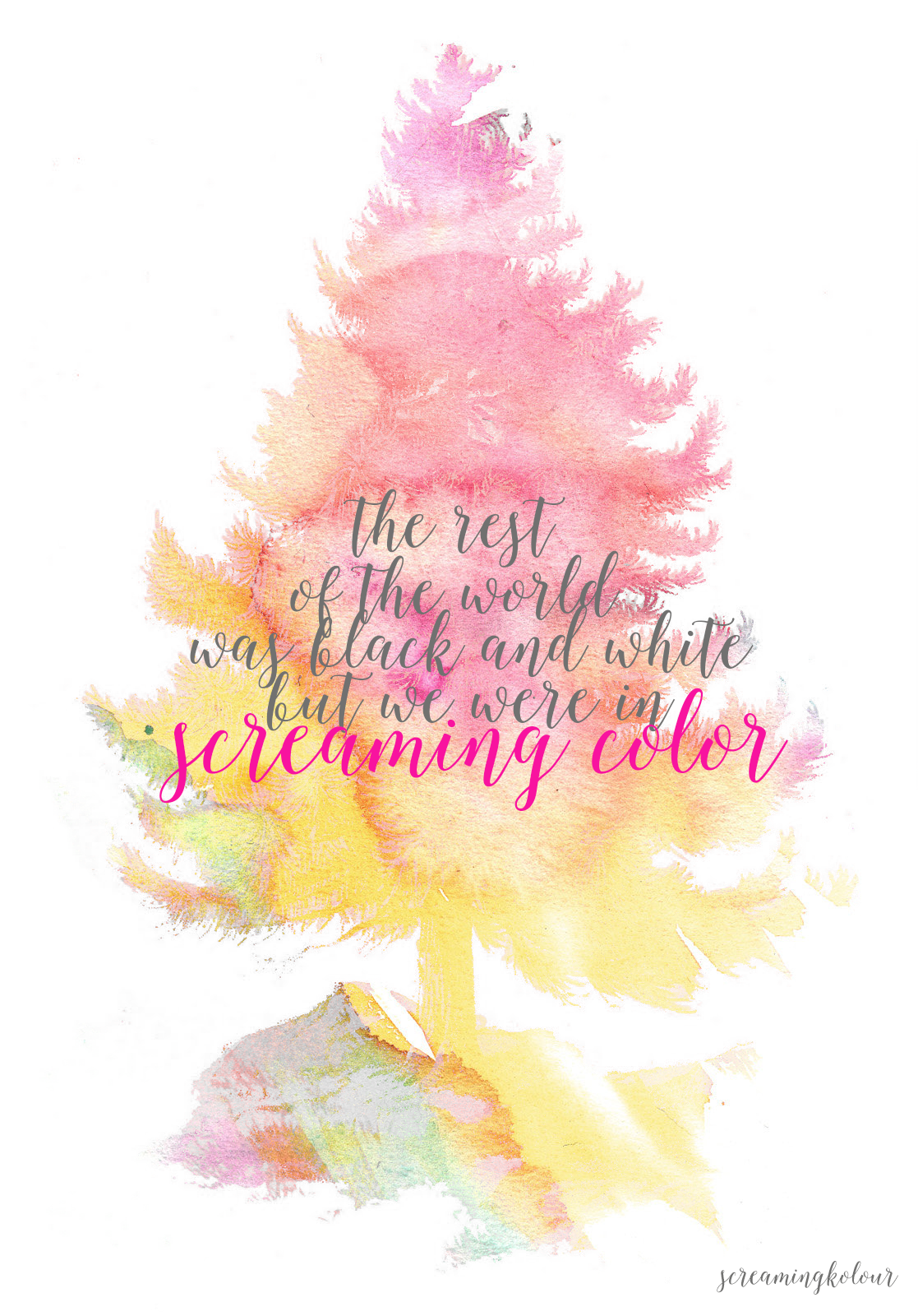 Iphone wallpaper tumblr taylor swift - The Rest Of The World Was Black And White But We Were In Screaming Color Taylor Swift Out Of The Woods Lyrics Illustration By Screamingkolour
