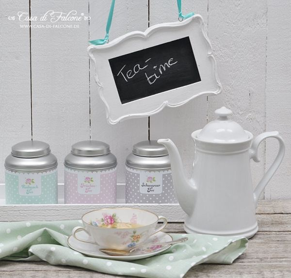 Personalisierte Teedose shabby rose Teabox