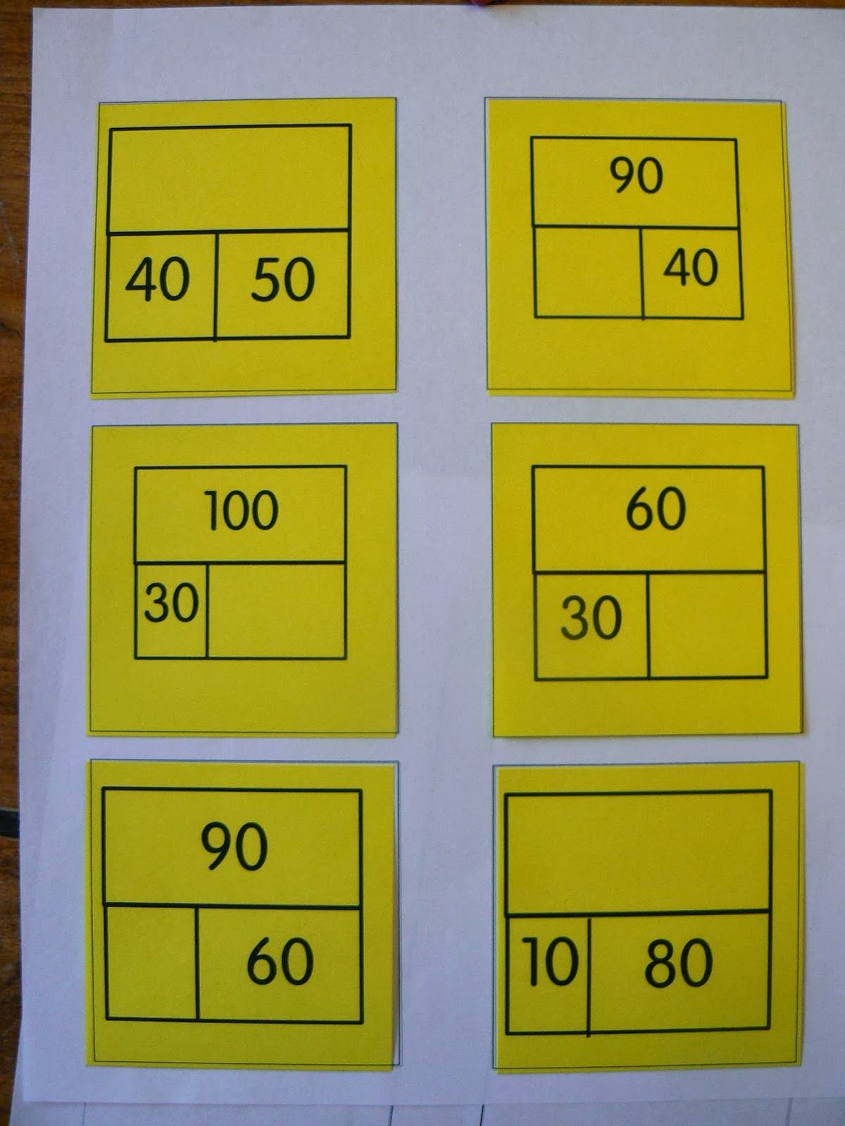 Mrs T S First Grade Class Math Whole Part Part Exit Tickets