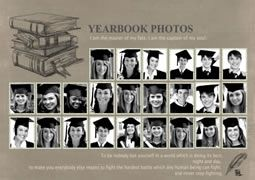 Classic Photo Collage Template Of Yearbook Vypusknoj Albom