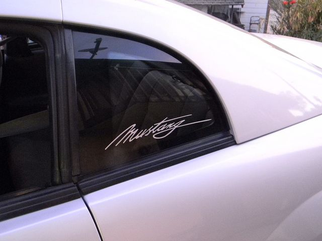 Ford Mustang window decal
