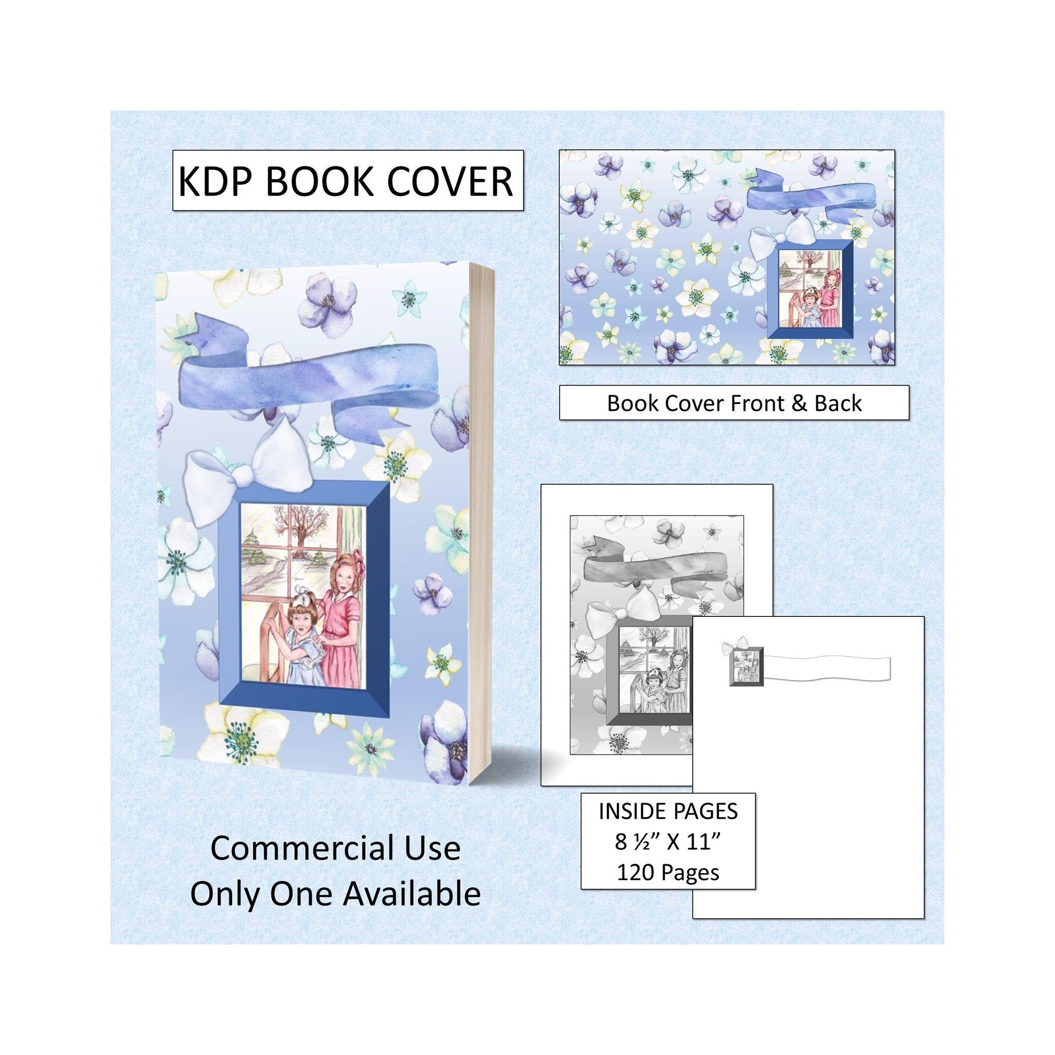 Girls Kids Kdp Book Cover Kindle Cover Template Kdp Cover Premade