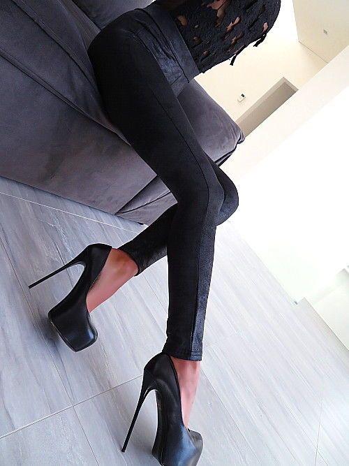 2e468143d7677c HOSE SCHWARZ LEDER OPTIK LEGGINGS BEST STRETCH DAMEN NEU U18 BLACK PANTS  S M -
