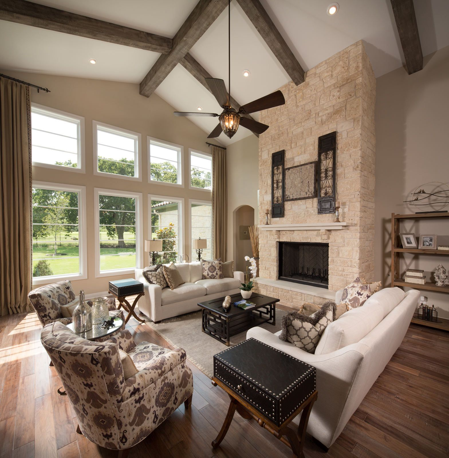 The Big Windows And Exposed Beams Bring Character And Light To