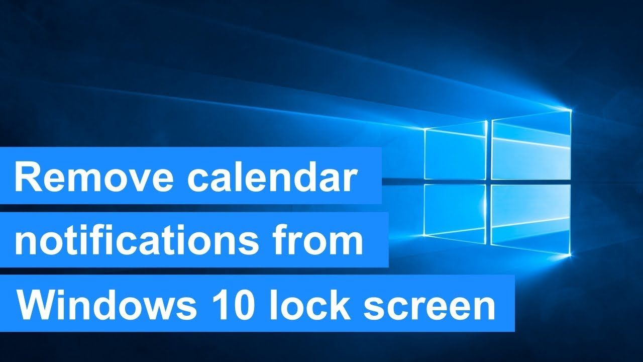 How to remove calendar notifications (reminders) from the