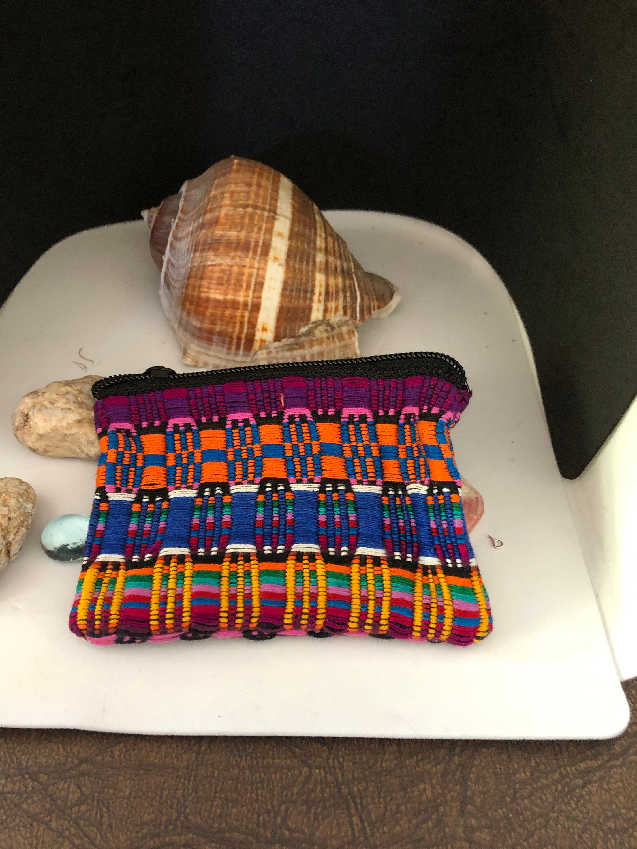 Handmade Mazatlan, Mexico change or makeup bag, Bohemian