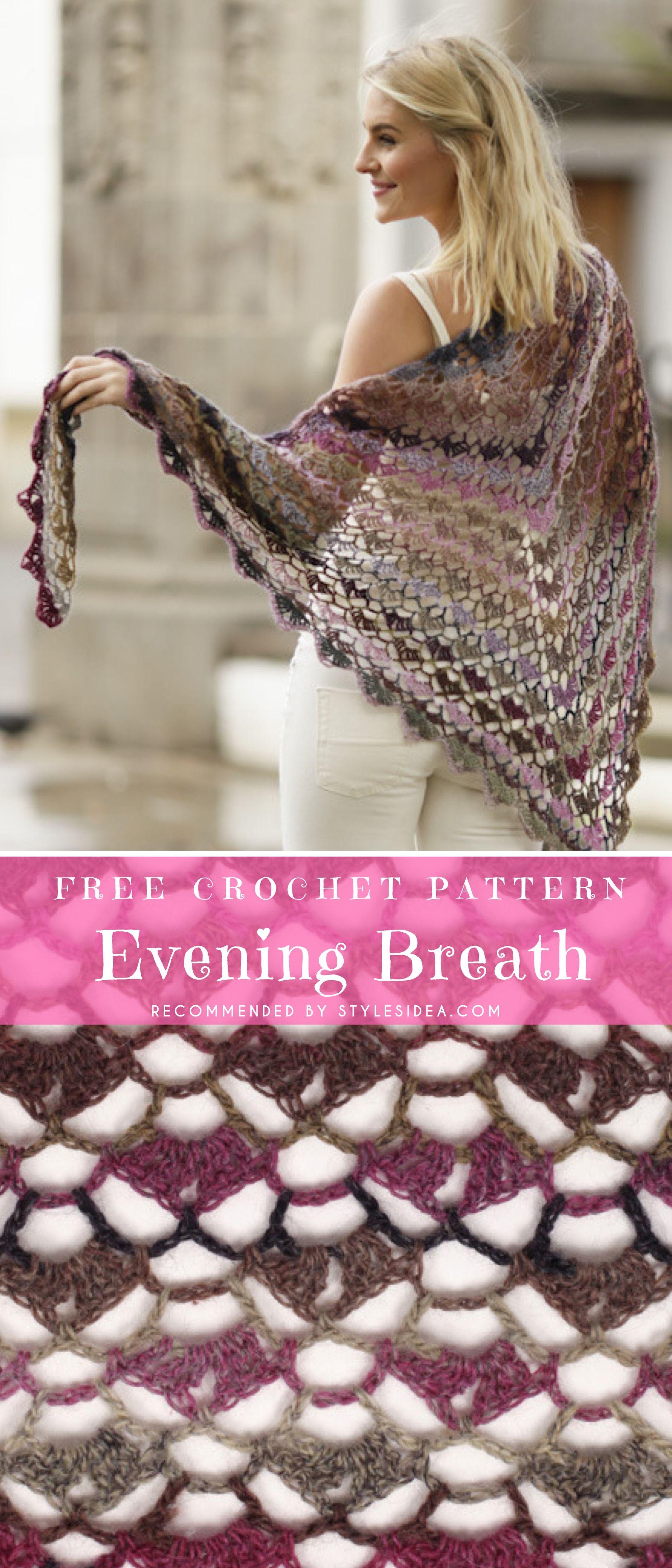 Stunning Evening Shawls Free Crochet Pattern | Pinterest | Evening ...