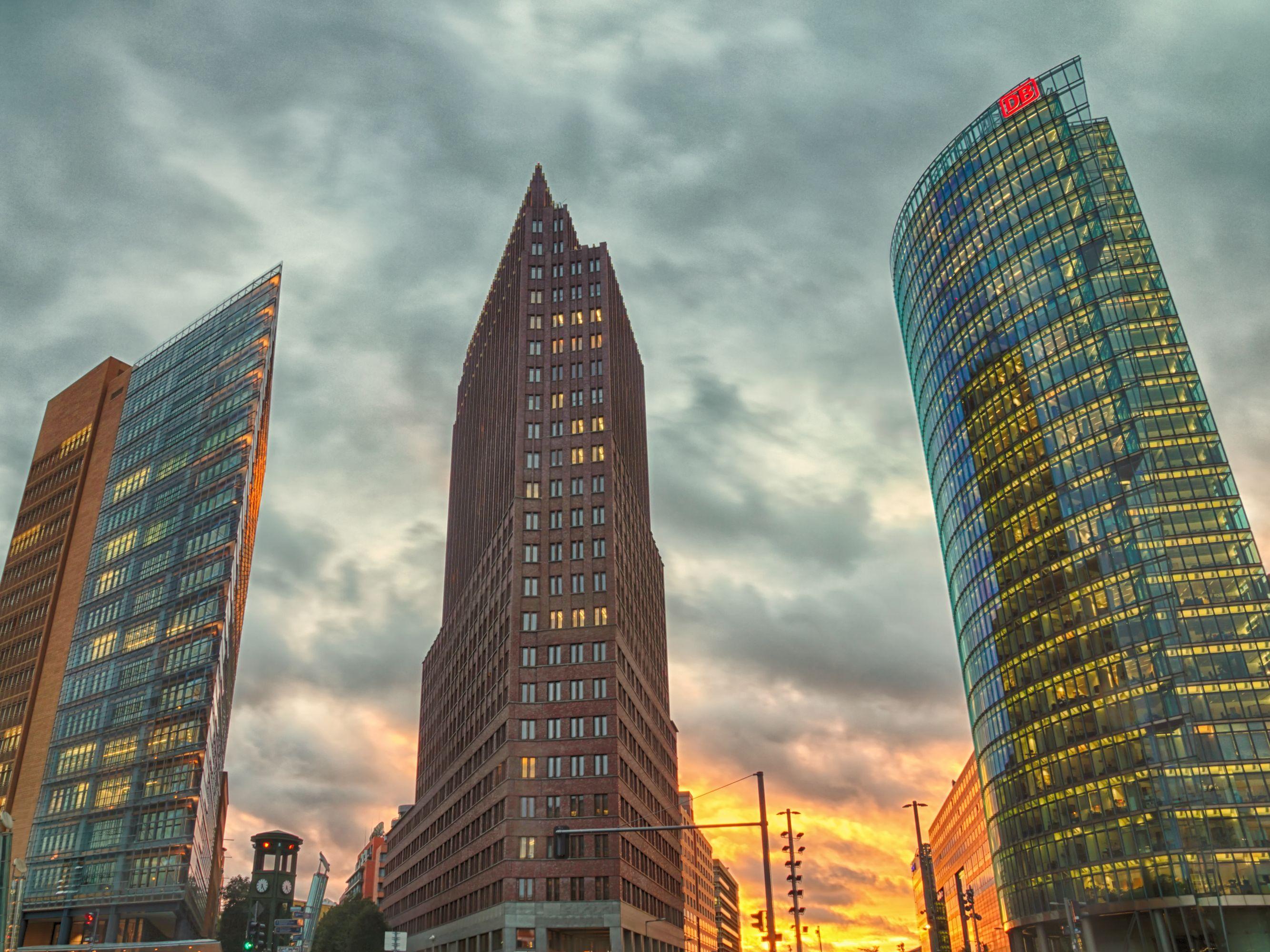 Photo Potsdamer Platz Romantic Sunset Photo Architecture Photography