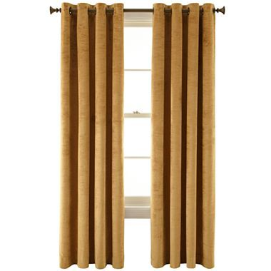 Royal Velvet® Augusta Velvet Window Curtain Panel - JCPenney. Velvet drapes.