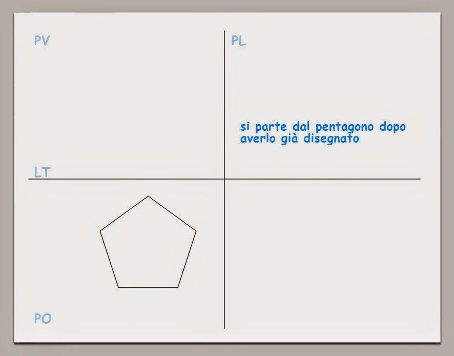 Esempio di proiezione ortogonale di un prisma pentagonale                                                                       ESERCIZI CO...