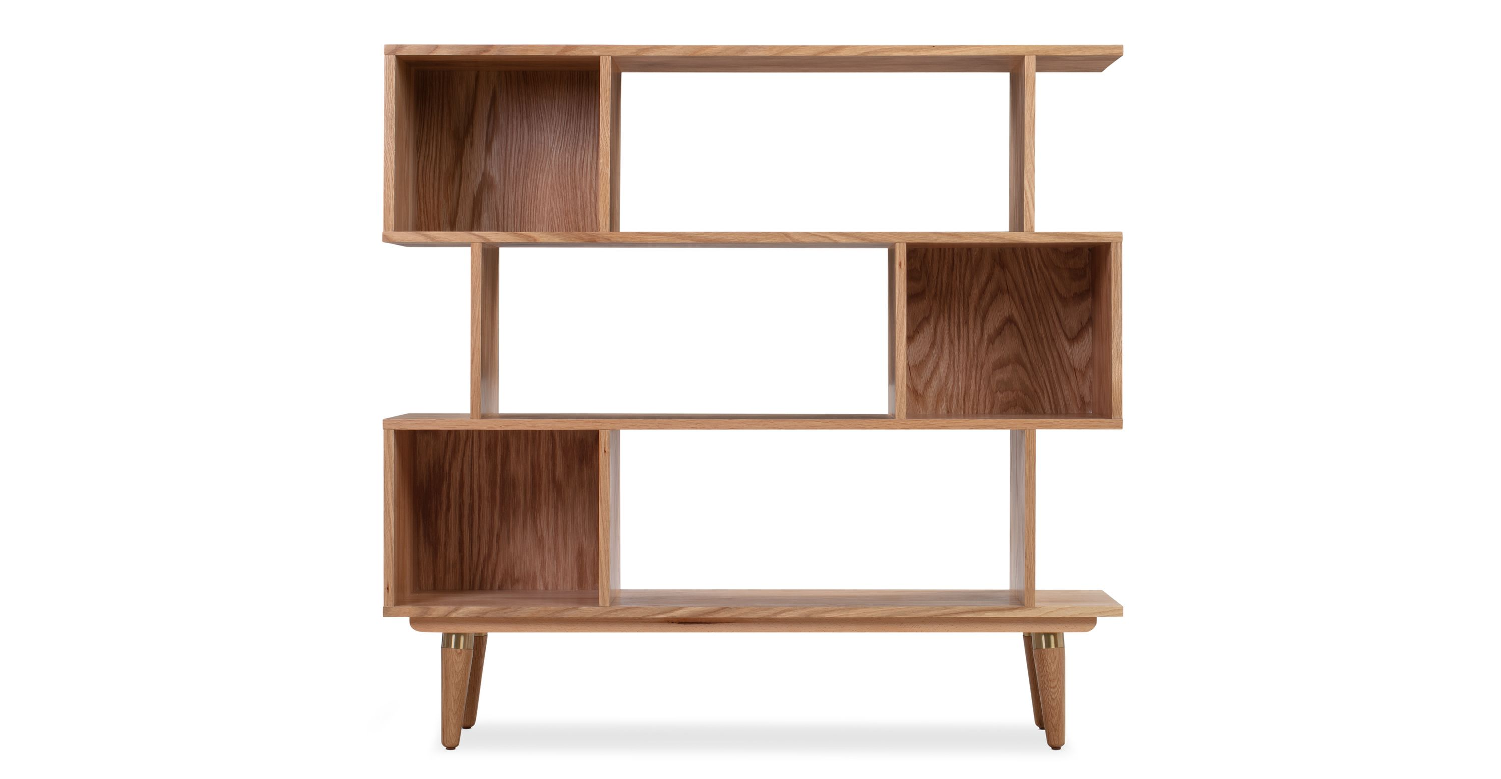 Dream 50 Bookshelf Natural Oak In 2020 Mid Century Modern Bookcase Bookcase Shelves Bookcase Storage