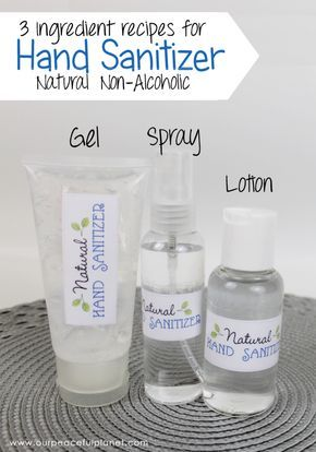 Natural Diy Hand Sanitizer 3 Ingredients No Alcohol Natural