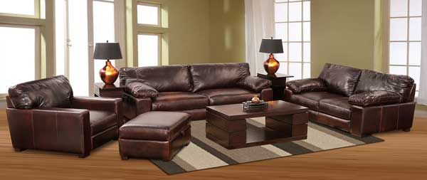 Barcelona Italian All Leather Collection Patio Furniture Bar Accent Living