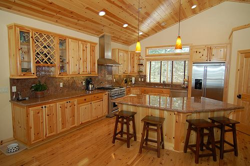 How To Whitewash Knotty Pine Hunker Knotty Pine Walls Pine Walls Knotty Pine Kitchen