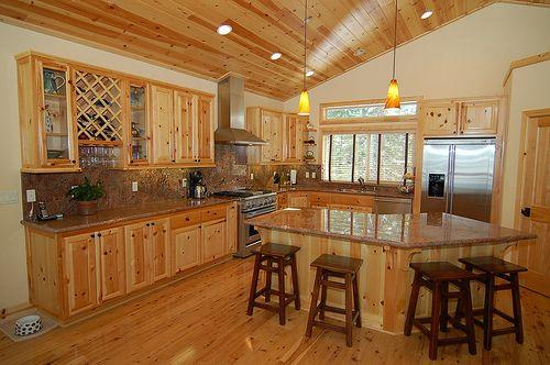 Interior knotty pine door - log home shoppe, Enjoy the natural ...