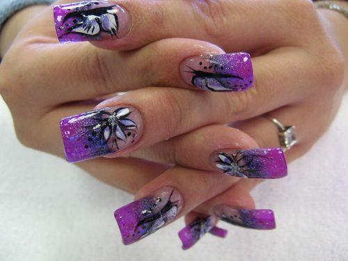 Purple acrylic nail designs 2015 how to take off acrylic nails purple acrylic nail designs 2015 prinsesfo Image collections