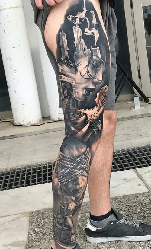 125 Best Leg Tattoos For Men (With images) Tatuaje