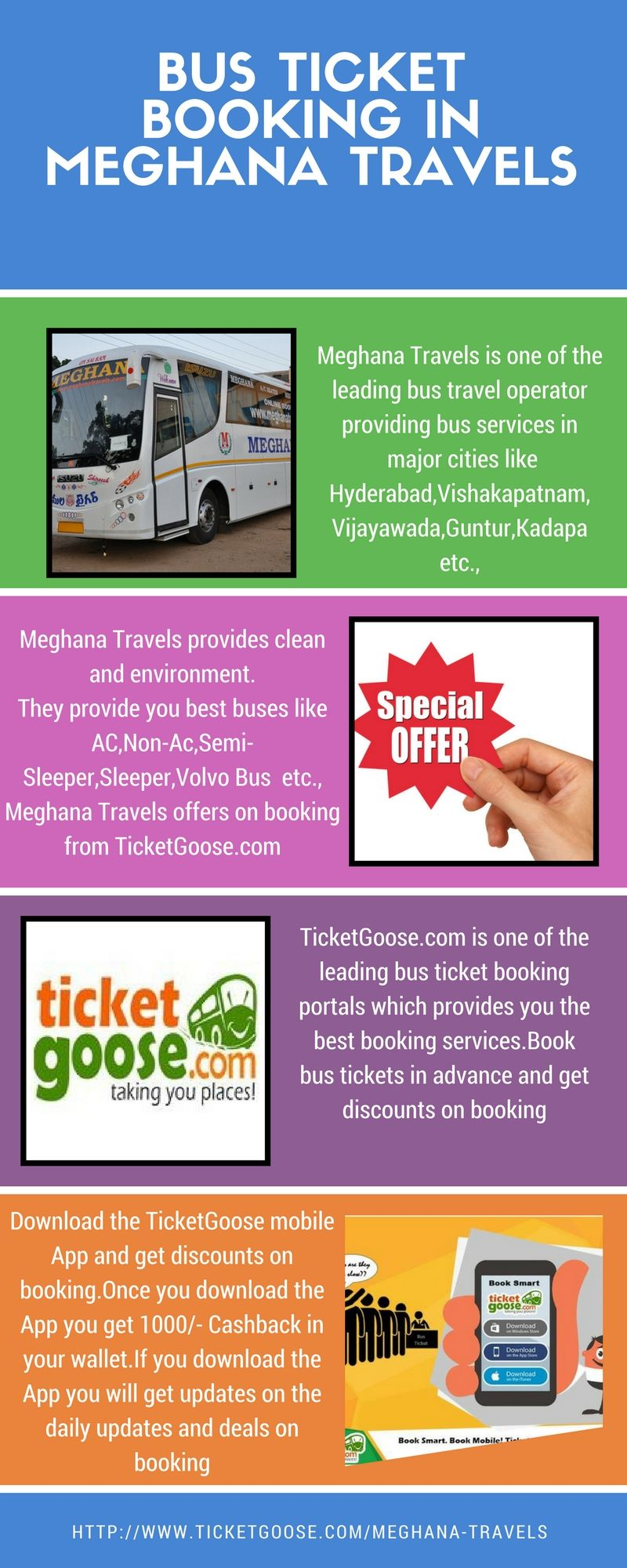 Meghana Travels Offers You The Best Comfortable Journey And